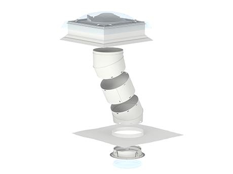 velux tageslicht spot tageslichtlampe f r flaches dach mit flexiblem starrem rohr. Black Bedroom Furniture Sets. Home Design Ideas