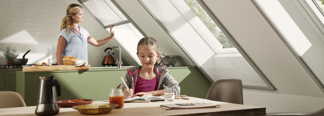 Insektenschutzrollo f r velux dachfenster - Oberlicht innenwand ...
